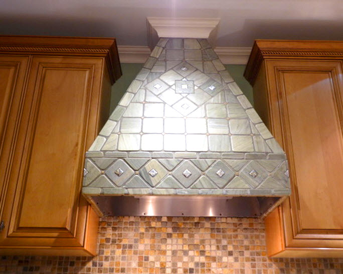 Custom Designed Kitchen Tile Work